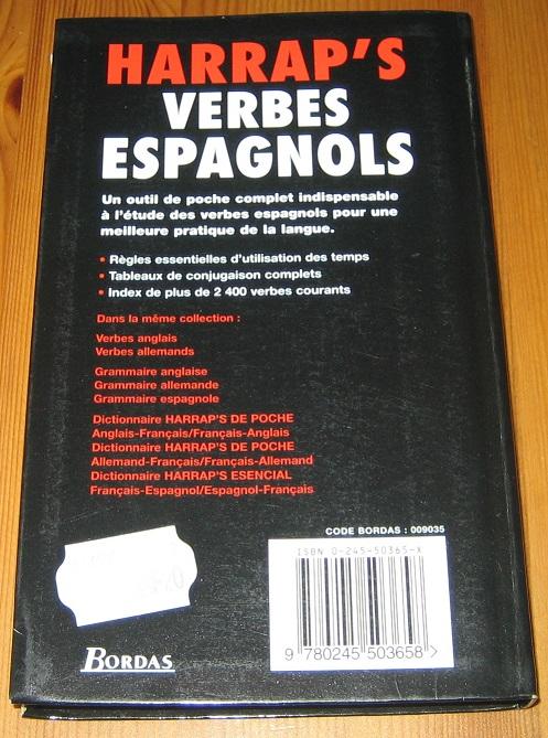 Verbes Espagnols Lexus Livre D Occasion Loccasiondelire